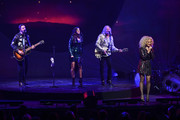 (L-R) Jimi Westbrook, Karen Fairchild, Phillip Sweet, and Kimberly Schlapman of Little Big Town perform at The Apollo Theater on January 17, 2020 in New York City.
