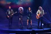 (L-R) Jimi Westbrook, Kimberly Schlapman, Karen Fairchild, and Phillip Sweet of Little Big Town perform at The Apollo Theater on January 17, 2020 in New York City.