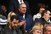 Gerard Houllier, ex liverpool manager looks on from the stands prior to the Premier League match between Liverpool and Crystal Palace at Anfield on August 19, 2017 in Liverpool, England.