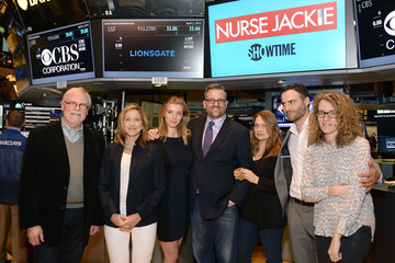 Liz Flahive The Cast of 'Nurse Jackie' Ring the NYSE Opening Bell