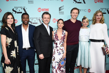 Lizzy Caplan Michael Sheen Screening Of Showtime And Sony Pictures Television's 'Masters Of Sex' - Red Carpet