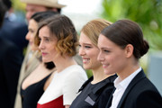 "(L-R) Actors John C. Reilly, Rachel Weisz, Angeliki Papoulia, Lea Seydoux and Ariane Labed attend a photocall for ""The Lobster"" during the 68th annual Cannes Film Festival on May 15, 2015 in Cannes, France."
