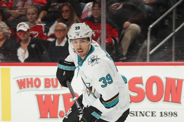 Logan Couture San Jose Sharks vs. New Jersey Devils