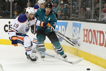 Logan Couture Edmonton Oilers v San Jose Sharks - Game Three
