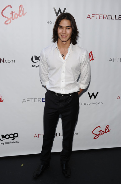 "Actor Booboo Stewart attends Logo's AfterEllen & AfterElton Inaugural ""Hot 100 Party"" at Station Hollywood at W Hollywood Hotel on July 16, 2012 in Hollywood, California."