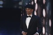 Xavier Naidoo enters the stage during the German Film Award 2011 at Friedrichstadtpalast on April 8, 2011 in Berlin, Germany.