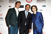 Armie Hammer, Luca Guadagnino and Timothee Chalamet attend the London Film Critics Circle Awards 2018 at The Mayfair Hotel on January 28, 2018 in London, England.