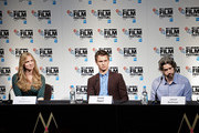 Producer Helen Estabrook, Ansel Elgort and Director Jason Reitman attend the London Film Festival Official Photocall and Press Conference of Paramount Pictures 'Men, Women & Children' at May Fair Hotel on October 9, 2014 in London, England.