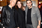 (L-R) Jefferson Hack, Chief Executive of the Britsh Fashion Council, Caroline Rush and guest attend the London Show Rooms 10th anniversary party as part of the Paris Fashion Week Womenswear Fall/Winter 2018/2019 at The Hoxton Paris on March 4, 2018 in Paris, France.