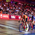 Steven Burke Photos - (L-R) Benjamin Thomas of France, Steven Burke of Great Britain and Kenny De Ketele of Belgium sprint in the finals laps of the 10km Points Race on Day 3 of the London Six Day Race and the Lee Valley Velopark, London on October 26, 2017 in London, England. - London Six Day Race