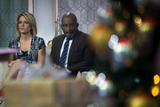 (L to R) Dylan Dreyer and Al Roker look on before starting a segment on the set of NBC's Today Show, November 29, 2017 in New York City. It was announced on Wednesday morning that long time Today Show host Matt Lauer had been fired for alleged sexual misconduct.