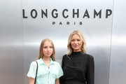 Lila Moss (L) and Kate Moss attend the Longchamp SS20 Runway Show at Hearst Plaza, Lincoln Center on September 07, 2019 in New York City.