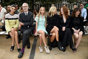 (L-R) Kendall Jenner, Jean Cassegrain, Lila Moss, Kate Moss, Julianne Moore, and Linda Cardellini attend the Longchamp SS20 Runway Show on September 07, 2019 in New York City.