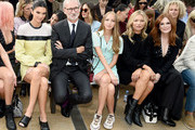 (L-R) Kendall Jenner, Jean Cassegrain, Lila Moss, Kate Moss, and Julianne Moore attend the Longchamp SS20 Runway Show on September 07, 2019 in New York City.