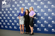 Radha Mitchell, Sue Brooks and Odessa Young attend a photocall for 'Looking For Grace' during the 72nd Venice Film Festival on September 3, 2015 in Venice, Italy.