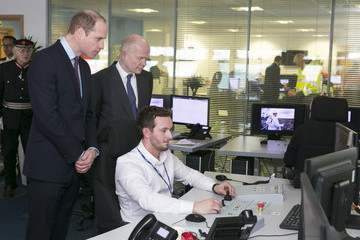 Lord Hague The Duke of Cambridge and Lord Hague Visit London Gateway