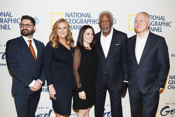 Lori McCreary Courteney Monroe National Geographic 'The Story of God' with Morgan Freeman World Premiere