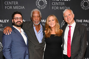 Lori McCreary James Younger The Paley Center Presents 'The Story Of Us' With Morgan Freeman