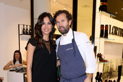 Carlo Cracco and Caterina Balivo attend the Loriblu Cocktail Party as part of Milan Fashion Week Womenswear Autumn/Winter 2014 on February 20, 2014 in Milan, Italy.
