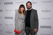 Linda Cardellini and Chris Gialanella attends 'Los Angeles Confidential Magazine celebrates the Emmys with Linda Cardellini' at Kimpton Everly Hotel on September 18, 2019 in Los Angeles, California.
