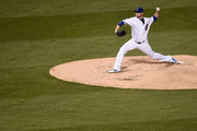 Jon Lester #34 of the Chicago Cubs throws a pitch during the third inning of a game against the Los Angeles Dodgers at Wrigley Field on April 10, 2017 in Chicago, Illinois.