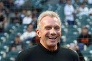 Former NFL quarterback Joe Montana gets ready to throw out the ceremonial first pitch before the San Francisco Giants game against the Los Angeles Dodgers at AT&T Park on September 12, 2017 in San Francisco, California.