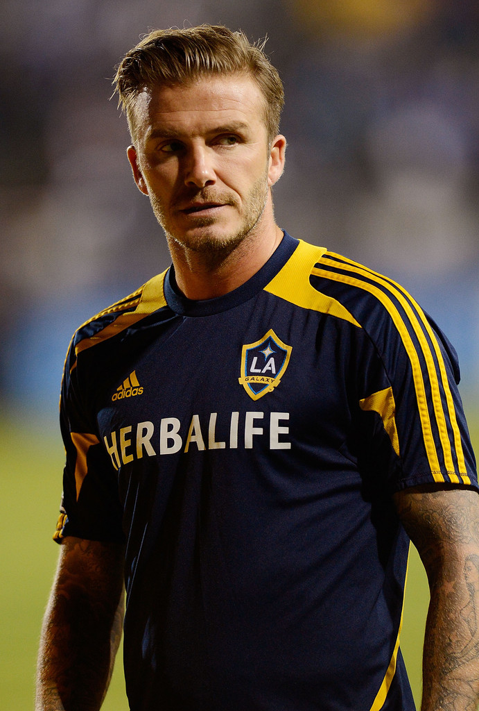 David beckham photos photos los angeles galaxy v san jose earthquakes western conference for David beckham