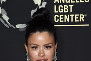 """Cierra Ramirez arrives at the Los Angeles LGBT Center's Gold Anniversary Vanguard Celebration """"Hearts Of Gold"""" at The Greek Theatre on September 21, 2019 in Los Angeles, California."""