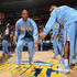 Chauncey Billups Photos - Chauncey Billups #1 of the Denver Nuggets takes the court during player introductions prior to facing the Los Angeles Lakers at the Pepsi Center on November 11, 2010 in Denver, Colorado. The Nuggets defeated the Lakers 118-112.  NOTE TO USER: User expressly acknowledges and agrees that, by downloading and/or using this Photograph, User is consenting to the terms and conditions of the Getty Images License Agreement. - Los Angeles Lakers v Denver Nuggets