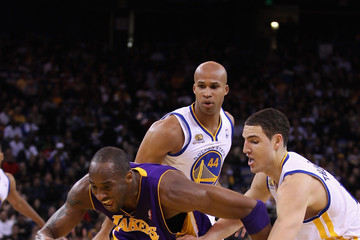 Kobe Bryant Klay Thompson Los Angeles Lakers v Golden State Warriors