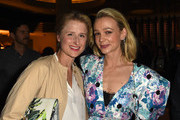 Mamie Gummer (L) and Carey Mulligan attend the The Los Angeles Premiere After Party Of WILDLIFE on October 9, 2018 in Los Angeles, California.