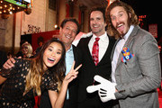 "(L-R) Actress Jamie Chung, Head of Disney Animation Andrew Millstein, screenwriter Robert L. Baird and actor T.J. Miller attend the Los Angeles Premiere of Walt Disney Animation StudiosÂ' Â""Big Hero 6' at El Capitan Theatre on November 4, 2014 in Hollywood, California."