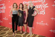 "Candace Cameron-Bure, Lacey Chabert, Kristin Chenoweth, and Michelle Vicary arrive at the Los Angeles special screening of Hallmark Channel's ""A Christmas Love Story"" at Montage Beverly Hills on October 21, 2019 in Beverly Hills, California."