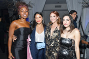 """DeWanda Wise, Gina Rodriguez, Brittany Snow and Jennifer Kaytin Robinson attend the after party for the special screening of Netflix's """"Someone Great"""" at ArcLight Hollywood on April 17, 2019 in Hollywood, California."""