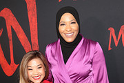 (L-R) Scout Bassett and Ibtihaj Muhammad attend the World Premiere of Disney's 'MULAN' at the Dolby Theatre on March 09, 2020 in Hollywood, California.