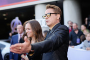 "(L-R) Susan Downey and Robert Downey Jr. attend the Los Angeles World Premiere of Marvel Studios' ""Avengers: Endgame"" at the Los Angeles Convention Center on April 23, 2019 in Los Angeles, California."