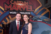 "Director/writer Ryan Fleck (L) and guest attend the Los Angeles World Premiere of Marvel Studios' ""Captain Marvel"" at Dolby Theatre on March 4, 2019 in Hollywood, California."