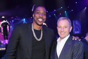 """Dwight Howard (L) and The Walt Disney Company Chairman and CEO Bob Iger attend the Los Angeles World Premiere of Marvel Studios' """"Avengers: Endgame"""" at the Los Angeles Convention Center on April 23, 2019 in Los Angeles, California."""