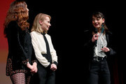 """Lola Kirke, Amy Ryan, and Anne Niktin speak onstage during the Netflix """"Lost Girls"""" Premiere at Eccles Center Theatre on January 28, 2020 in Park City, Utah."""