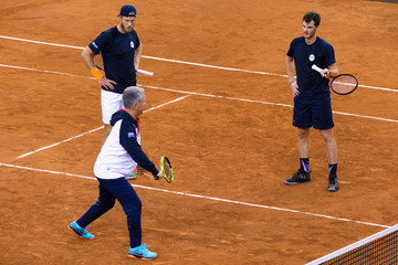 Louis Cayer France v Great Britain - Davis Cup World Group Quater-Final: Previews