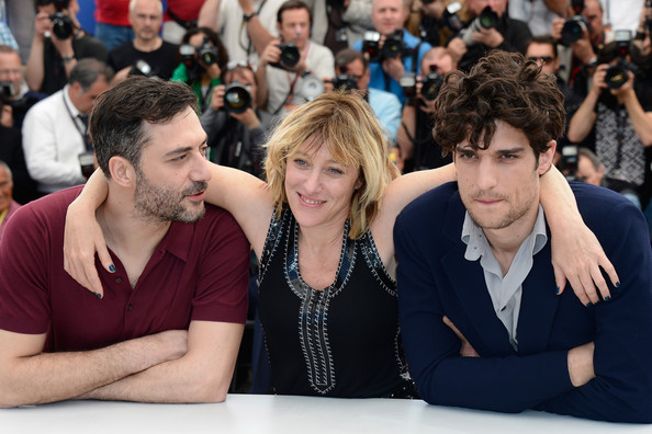 'Un Chateau En Italie' Photo Call in Cannes [un chateau en italie,photocall - the 66th annual cannes film festival,people,event,audience,crowd,student,games,may 21,photocall,l-r,actor,palais des festivals,cannes,france,annual cannes film festival]