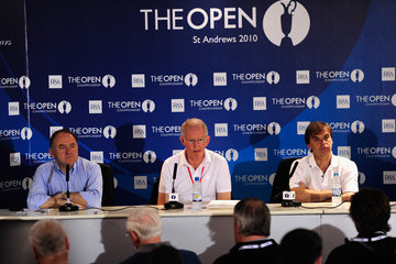 Michael Brown Peter Dawson Louis Oosthuizen - The Open Championship Photocall