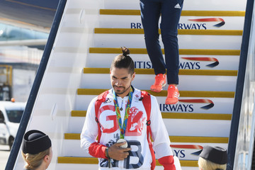 Louis Smith Team GB Arrive Home From the Rio Olympics