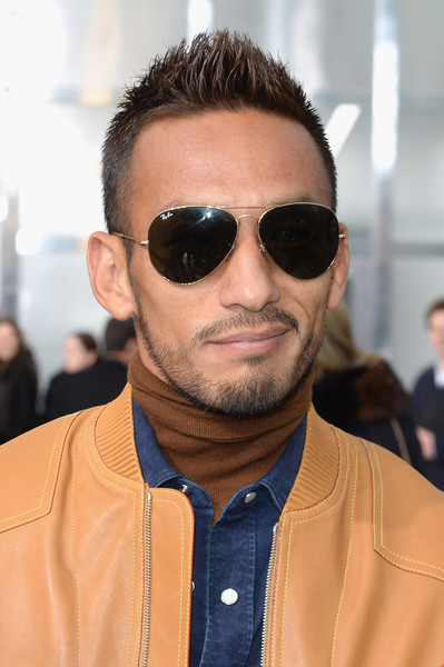nakata hair style hidetoshi nakata in front row at louis vuitton zimbio 4530