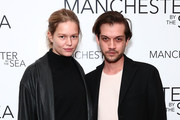 """(L-R) Model Anna Ewers and Michael Bruno attend Louis Vuitton presents A Special Screening Of """"Manchester By The Sea"""" at Crosby Street Hotel on December 18, 2016 in New York City."""