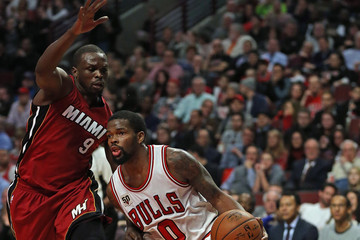 Loul Deng Miami Heat v Chicago Bulls
