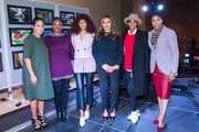 (L-R) Michelle Ebanks, Vanessa De Luca, Solange Knowles, Tina Knowles-Lawson, Kelly Rowland and Ivy McGregor attend Love On Louisiana: An Essence hometown heroes tribute celebrating the resilience of the Baton Rouge community with Tina Knowles-Lawson, Solange Knowles and Kelly Rowland at the Baton Rouge River Center on November 20, 2016 in Baton Rouge, Louisiana. (Photo by Josh Brasted/Getty Images for Essence