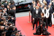 """Peter Dundas and Emily Ratajkowski attend the """"Loveless (Nelyubov)"""" screening during the 70th annual Cannes Film Festival at Palais des Festivals on May 18, 2017 in Cannes, France."""