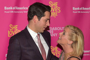 "Zachary Levi and Jane Krakowski attend ""She Loves Me"" Broadway Opening Night at Studio 54 on March 17, 2016 in New York City."