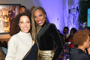 "Robin Thede and Yvonne Orji attend the Lowkey ""Insecure"" Dinner presented by Our Stories to Tell at Firewood on January 25, 2020 in Park City, Utah."